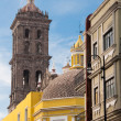 Backside of Puebla cathedral, Mexico — Stock Photo
