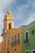 Colonial architecture in Puebla (Mexico) — Stock Photo