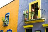 Colonial architecture in Puebla (Mexico) — Stock Photo