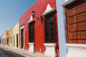 Colonial architecture in Campeche (Mexico) — Stock Photo