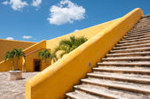 Inner courtyard of San Miguel Fort, Campeche (Mexico) — Stock Photo