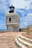 Lighthouse at Fort San Felipe del Morro, Puerto Rico — Stock Photo