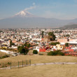 Popocatepetl volcano seen from CholulMexico — Stock Photo #10495113