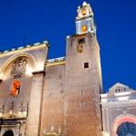 Merida cathedral at night , Yucatan Mexico — Stock Photo