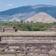 Teotihuacan from the temple of Quetzalcoatl, (Mexico) - Stock Photo