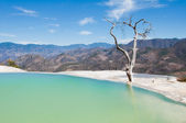 Hierve el Agua, thermal spring in Oaxaca (Mexico) — Stock Photo