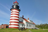 West Quoddy Head Lighthouse, Maine, USA — Stock Photo
