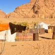 Stock Photo: Berber tents in Wadi Rum desert (Jordan)