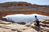 Mesa arch, Canyonlands national park (Utah) — Stock Photo