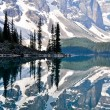 Moraine lake, montagne rocciose, canada — Foto Stock