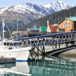 Foto de Stock  : Seward Bay Harbor in Alaska