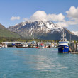 Seward bay harbor i alaska — Stockfoto