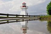 Duthie point lighthouse (Quebec) — Stock Photo