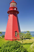 Lighthouse at La Martre in Quebec — Stock Photo