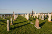 Graves in a Catholic cemetery, Canada — Stock Photo