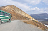 Bus to Denali national park, Alaska (USA) — Stock Photo