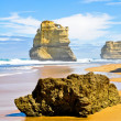 Gibson Steps and the Twelve Apostles, Victoria (Australia) - Stock Photo