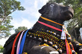The Nandi bull on Chamundi Hill, Mysore, Karnataka, India — Stock Photo