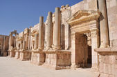South Theater at Jerash ruins (Jordan) — Stock Photo