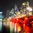 The Singapore skyline at night — Stock Photo