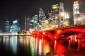 The Singapore skyline at night — Stock Photo