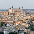 Panoramic view of Toledo and Alcazar, Spain — Stock Photo #8767743