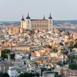 Panoramic view of Toledo and Alcazar, Spain — Stock Photo