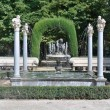 Niño de la Espina fountain at Island garden, Aranjuez (Madrid) — Stock Photo