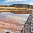 Salt flat of Imon, Guadalajara (Spain) — Stock Photo