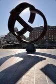 Variante Ovoide sculpture, Bilbao — Stock Photo