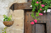 Elegant Window Box in a country house — Stock Photo