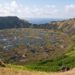 Rano Kau volcano, Easter island (Chile) — Stock Photo