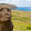 Moais at Rano Raraku, Easter island (Chile) — Stock Photo