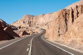 Road in Atacama desert, Chile — Stock Photo