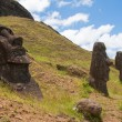 Stock Photo: Moais at Rano Raraku, Easter island (Chile)