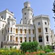 Hluboka nad Vltavou castle, Czech Republic — Stock Photo #9004285
