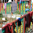 Buddhist monastery , Mcleod Ganj, Northern India - Stock Photo
