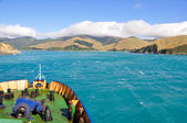 Cook Strait seen from the ferry (New Zealand) — Stock Photo