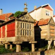 Granary in Combarro, Galicia (Spain) - Stock Photo