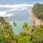 Na Pali Coast trail, Kauai — Stock Photo
