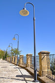Streetlamps in Labastida, Basque Country — Stock Photo