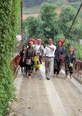 Grup turizm çevreleyen dzao — Stok fotoğraf