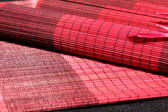 набор абстрактных красный азиатских стол матем — Стоковое фото