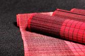 Conjunto abstracto rojo asiático salvamanteles — Foto de Stock