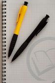 Caderno e caneta — Fotografia Stock