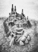 Sandcastles — Foto de Stock