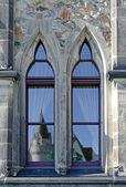 Okno starego budynku — Zdjęcie stockowe