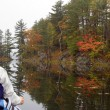 Fall canoeing — Stock Photo