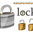 A set off locks — Stock Vector