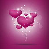 Pink balloon hearts for valentines day — Stock Photo